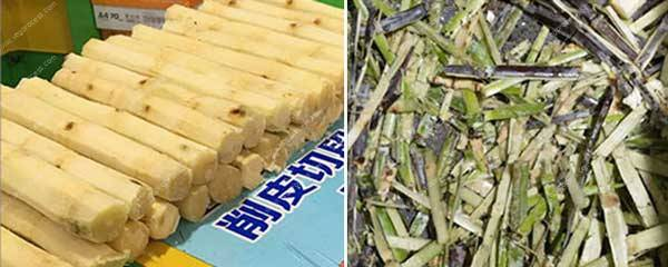 Automatic-Sugar-Cane-Peeling-and-Cutting-Machine-Result
