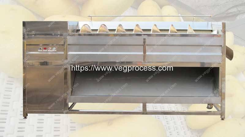 Screw-Feeding-Type-Root-Vegetable-Washing-Peeling-Machine
