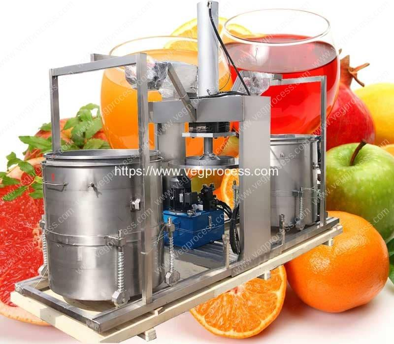 Double-Drum-Hydraulic-Type-Juice-Pressing-Making-Machine