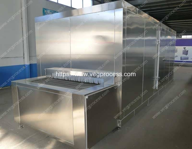 Full-Automatic-Tunnel-Type-Vegetable-Instant-Freezer