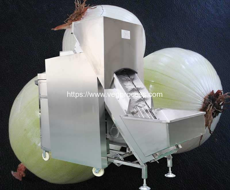 Automatic-Belt-Type-Onion-Peeling-Machine
