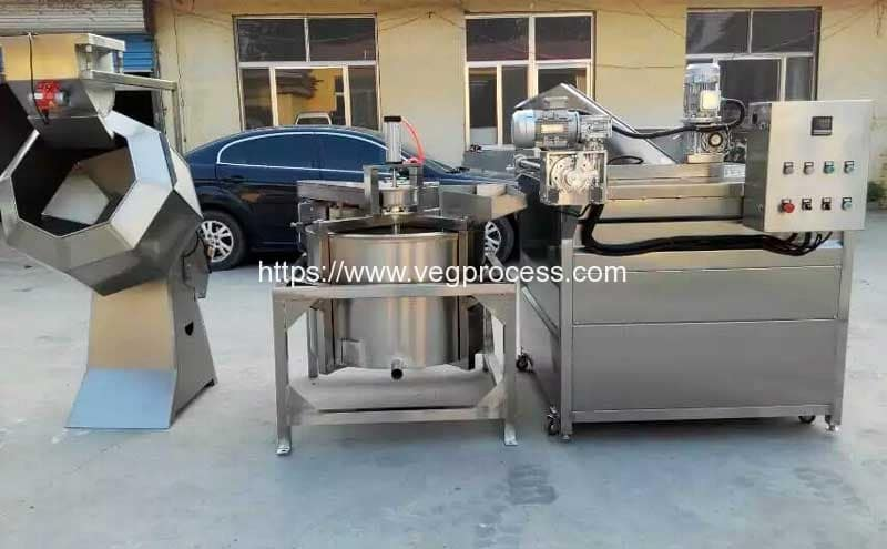 Automatic-Discharge-Type-Vegetable-Blanching-Machine-and-Dehydrator