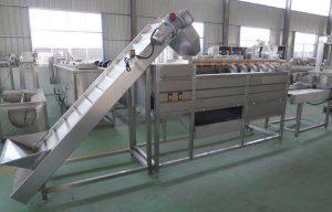 Automatic-Screw-Type-Root-Vegetable-Washing-Peeling-Machine-with-Feeding-Elevator