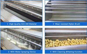 High-Quality-Brush-Type-Root-Vegetable-Washing-Peeling-Machine