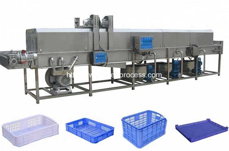 High-Pressure-Water-Spray-Basket-Box-Cleaning-Machine