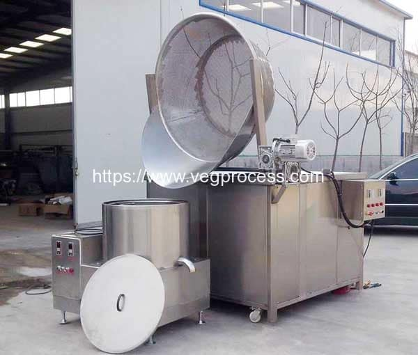 Auto-Discharge-Type-Vegetable-Frying-Machine