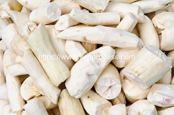 Knife-Peeled-Cassava